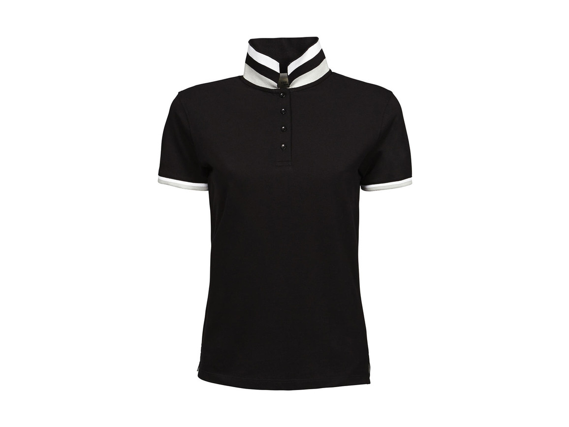 Tee Jays Ladies` Club Polo, Black, XL bedrucken, Art.-Nr. 503541016