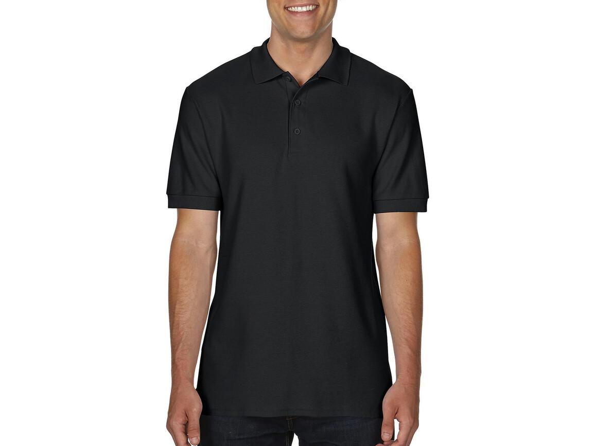 Gildan Premium Cotton Double Piqué Polo, Black, XL bedrucken, Art.-Nr. 504091016