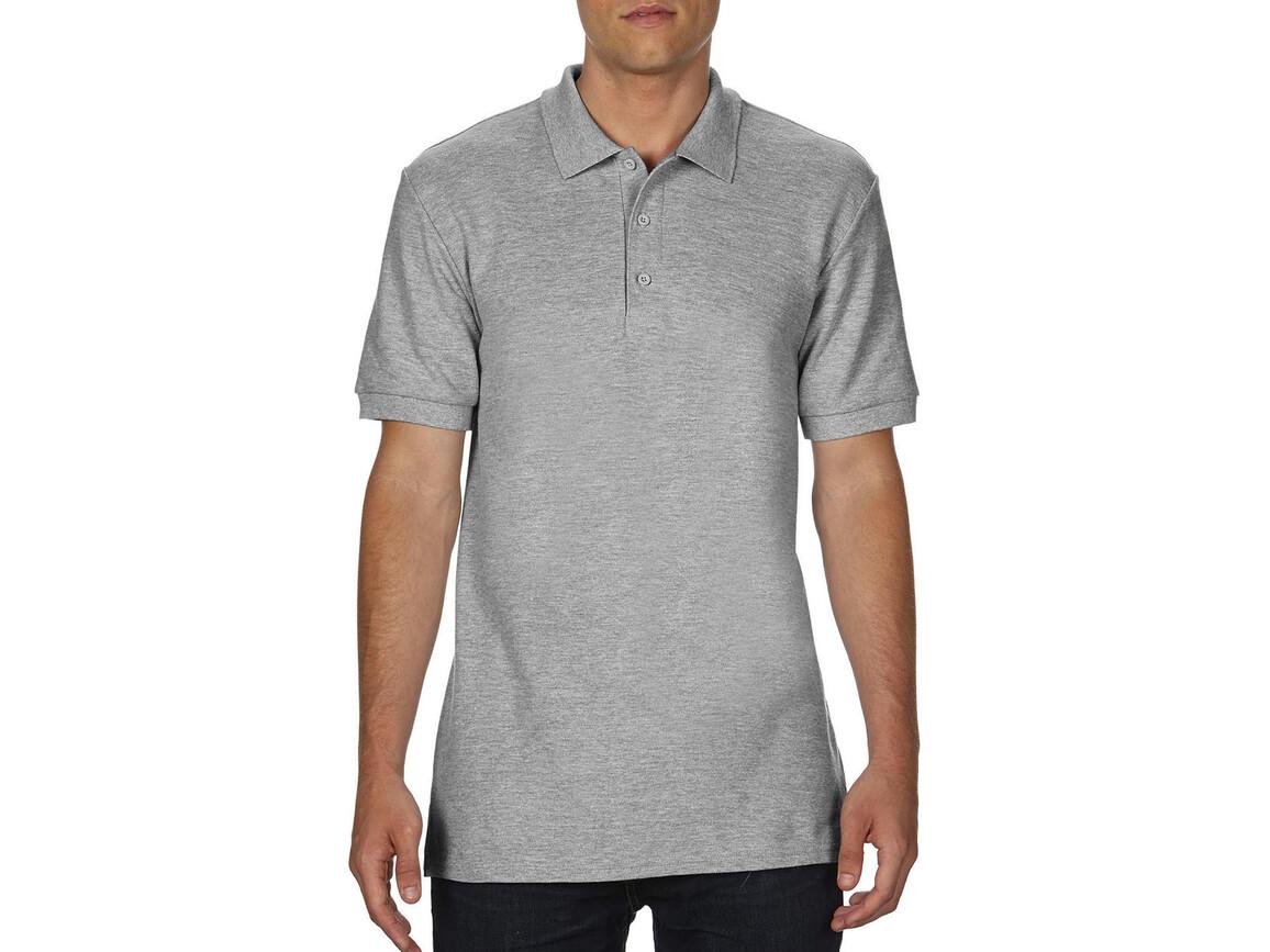 Gildan Premium Cotton Double Piqué Polo, Sport Grey, L bedrucken, Art.-Nr. 504091255