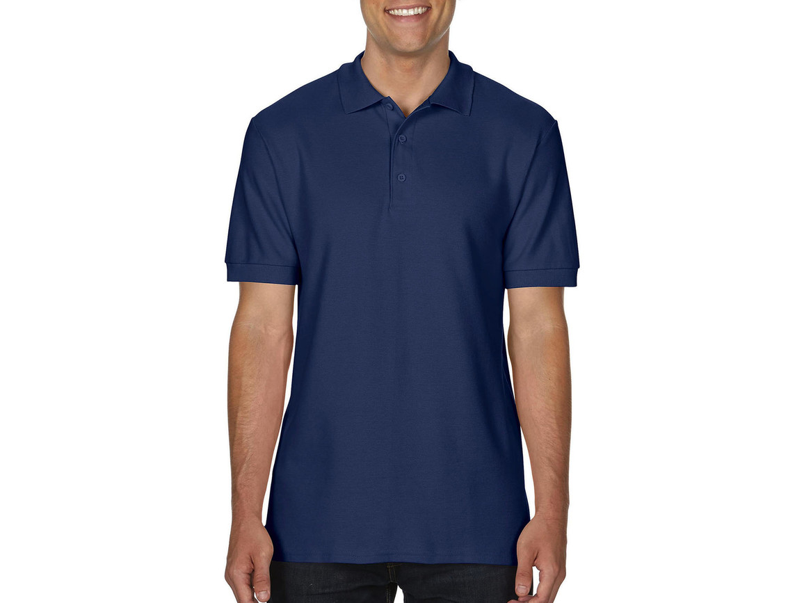 Gildan Premium Cotton Double Piqué Polo, Navy, M bedrucken, Art.-Nr. 504092004