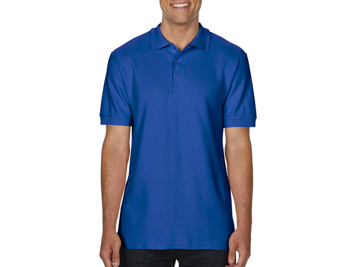 Gildan Premium Cotton Double Piqué Polo, Royal, M bedrucken, Art.-Nr. 504093004