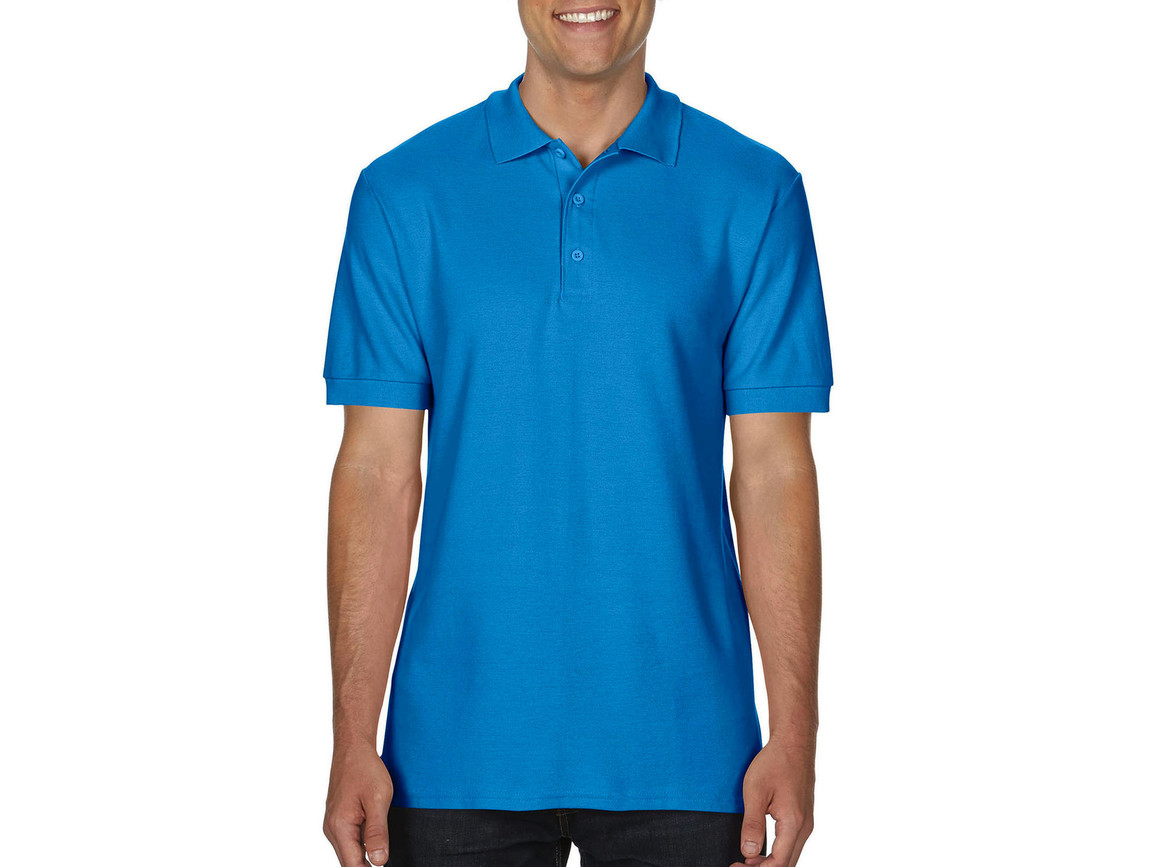 Gildan Premium Cotton Double Piqué Polo, Sapphire, 2XL bedrucken, Art.-Nr. 504093297