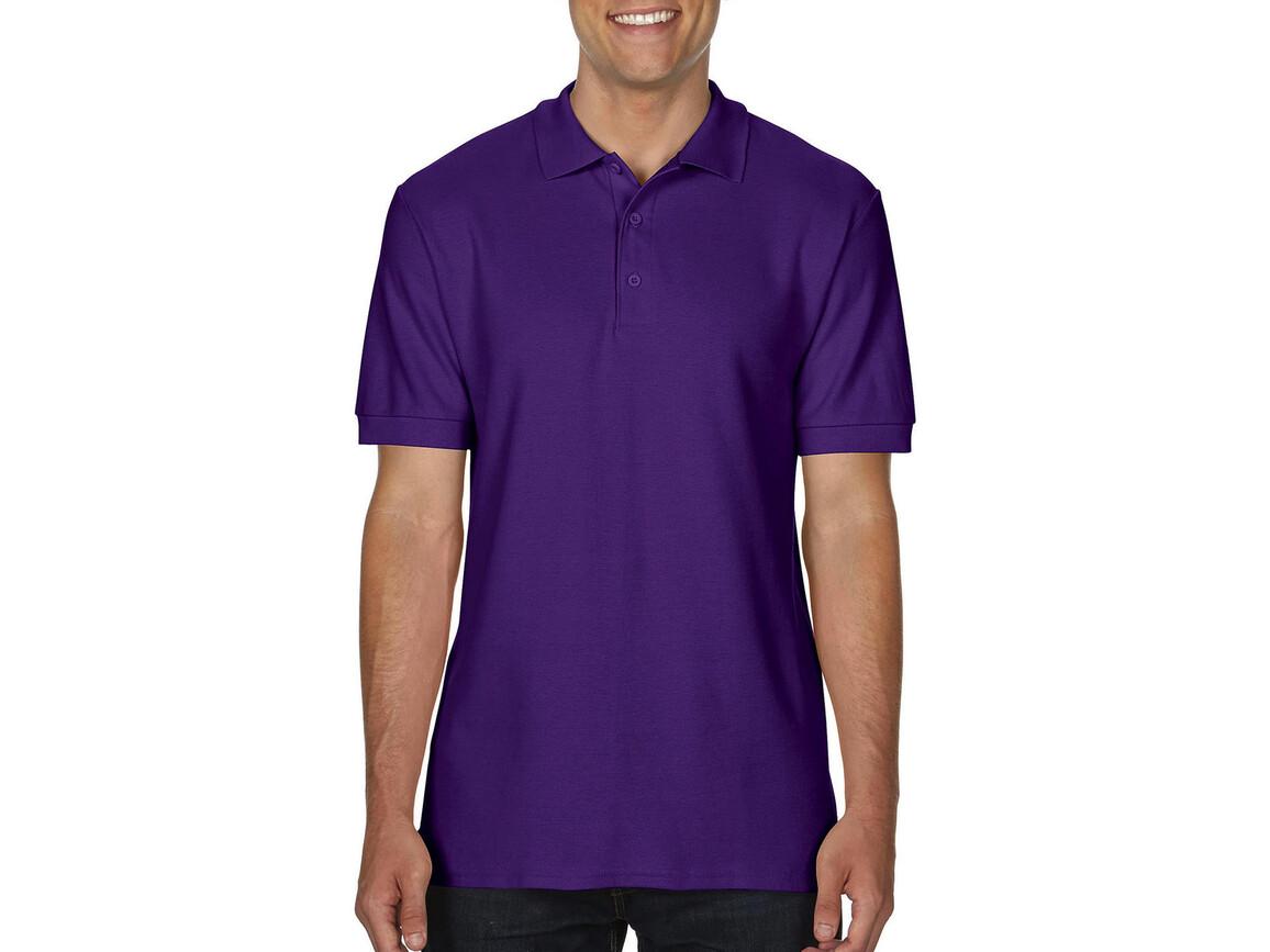 Gildan Premium Cotton Double Piqué Polo, Purple, XL bedrucken, Art.-Nr. 504093496