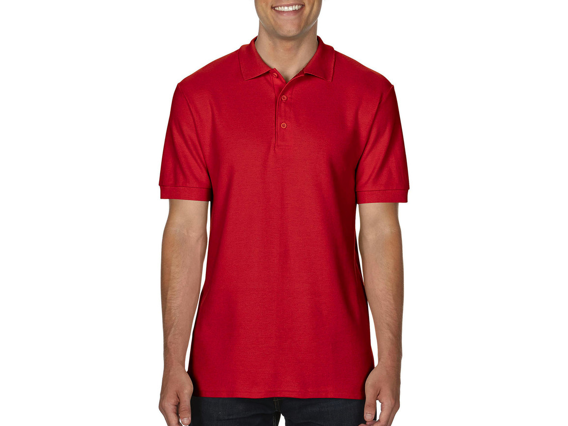 Gildan Premium Cotton Double Piqué Polo, Red, M bedrucken, Art.-Nr. 504094004