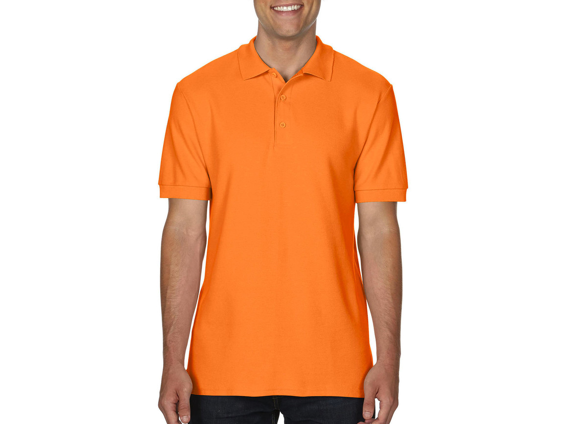 Gildan Premium Cotton Double Piqué Polo, Tangerine, XL bedrucken, Art.-Nr. 504094116