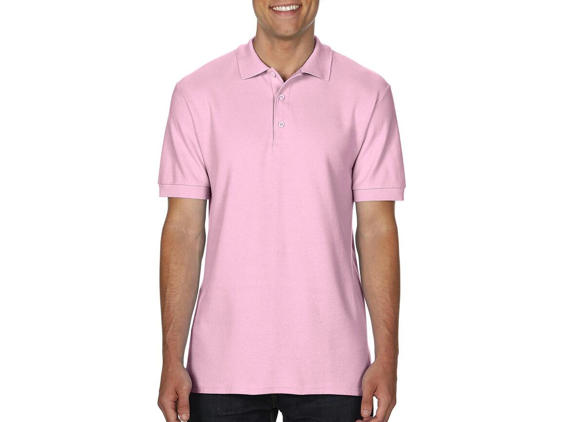 Gildan Premium Cotton Double Piqué Polo, Light Pink, S bedrucken, Art.-Nr. 504094203