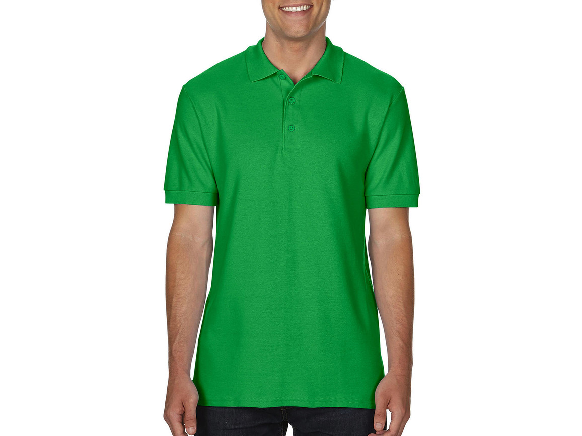 Gildan Premium Cotton Double Piqué Polo, Irish Green, M bedrucken, Art.-Nr. 504095094
