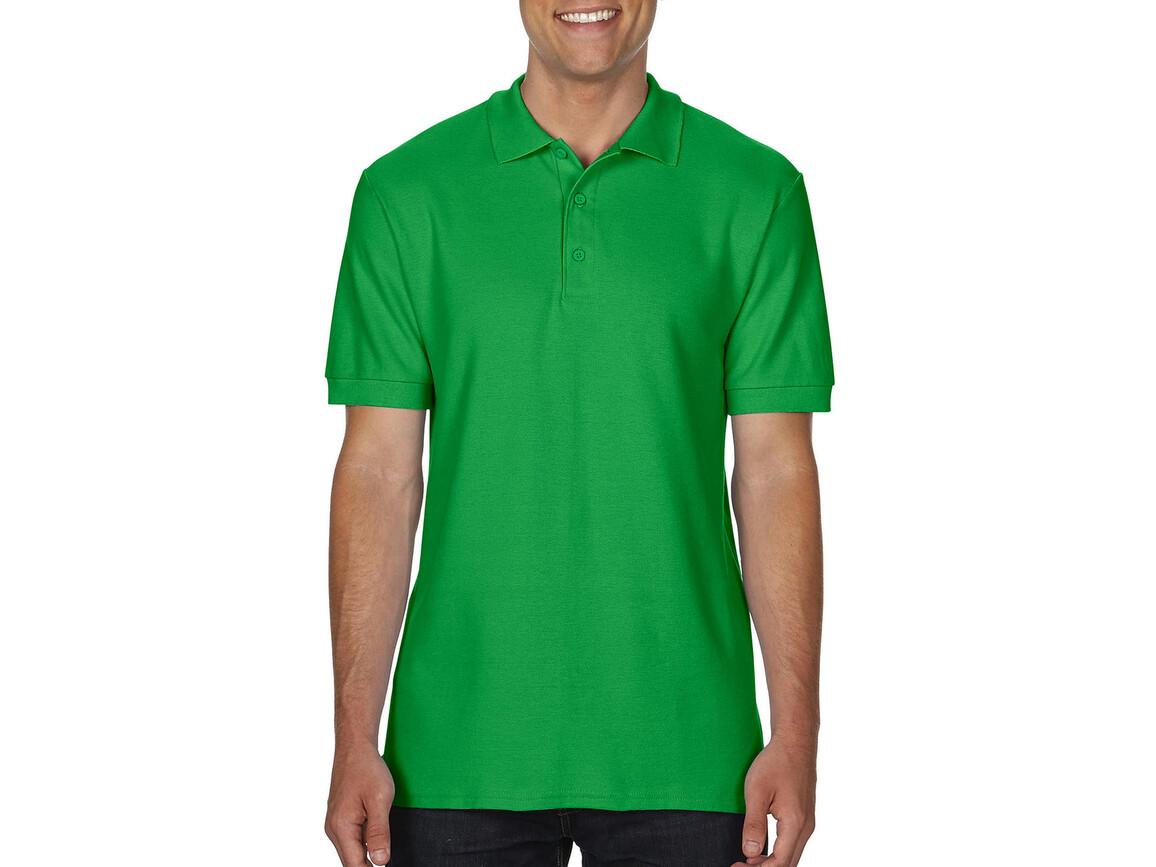 Gildan Premium Cotton Double Piqué Polo, Irish Green, XL bedrucken, Art.-Nr. 504095096