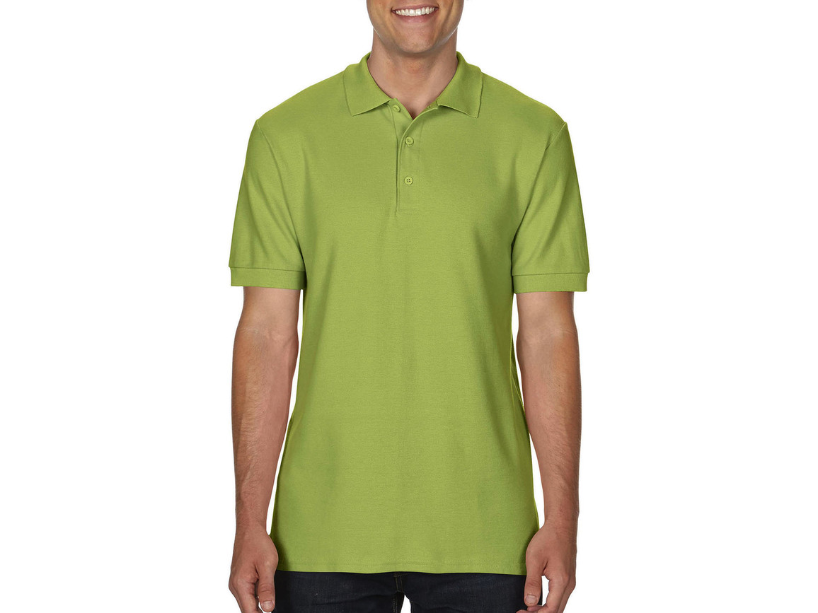 Gildan Premium Cotton Double Piqué Polo, Kiwi, M bedrucken, Art.-Nr. 504095204