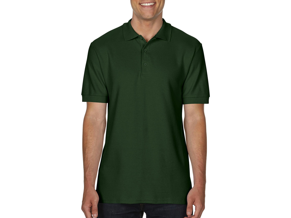 Gildan Premium Cotton Double Piqué Polo, Forest Green, S bedrucken, Art.-Nr. 504095413