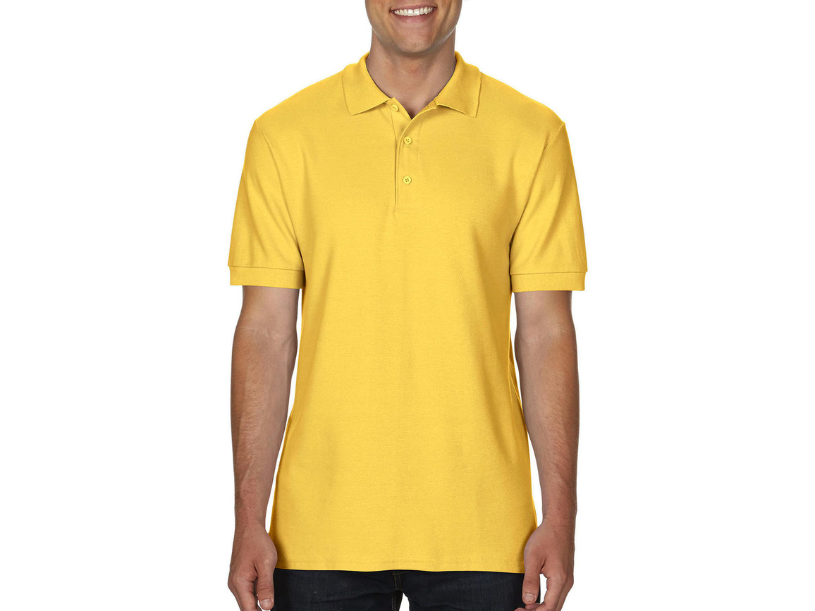 Gildan Premium Cotton Double Piqué Polo, Daisy, L bedrucken, Art.-Nr. 504096025
