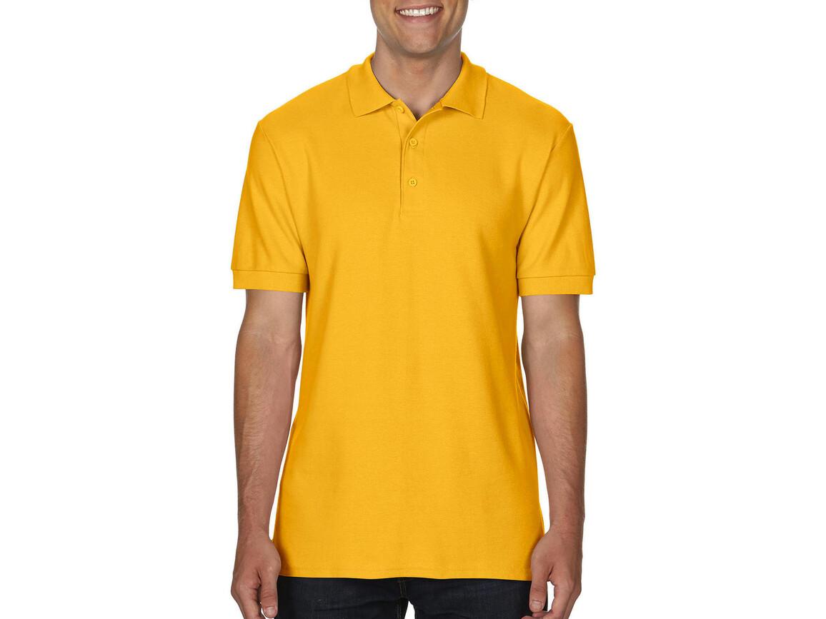 Gildan Premium Cotton Double Piqué Polo, Gold, XL bedrucken, Art.-Nr. 504096436
