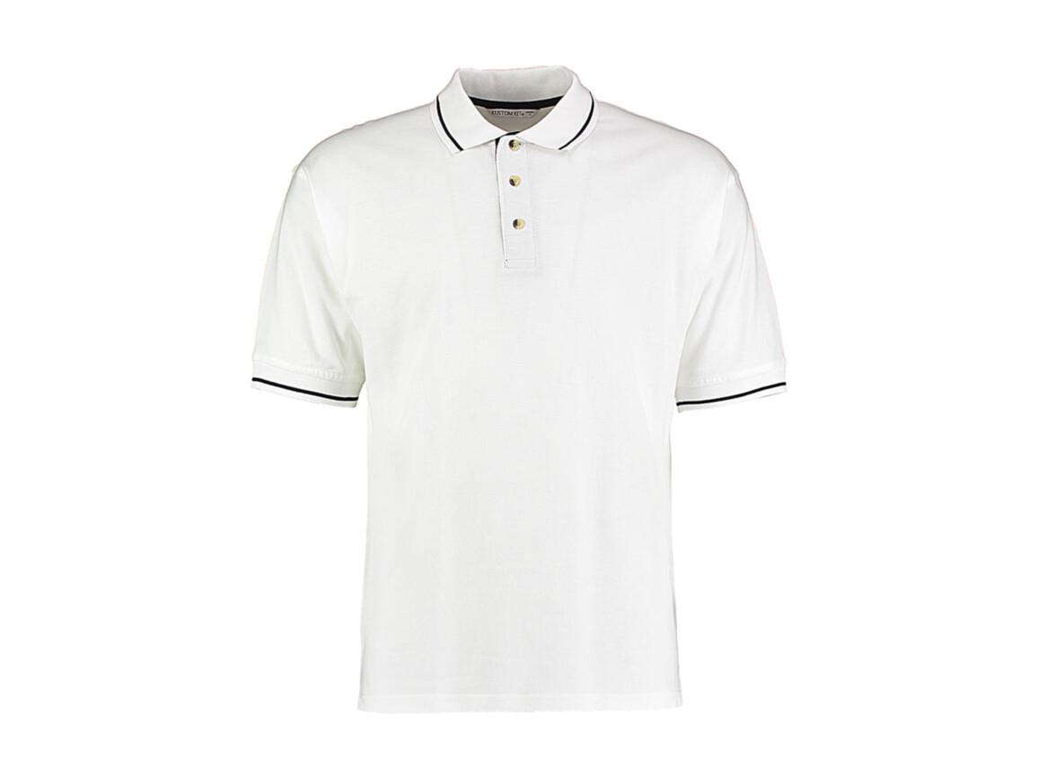 Kustom Kit Men`s Classic Fit St. Mellion Polo, White/Navy, L bedrucken, Art.-Nr. 504110525