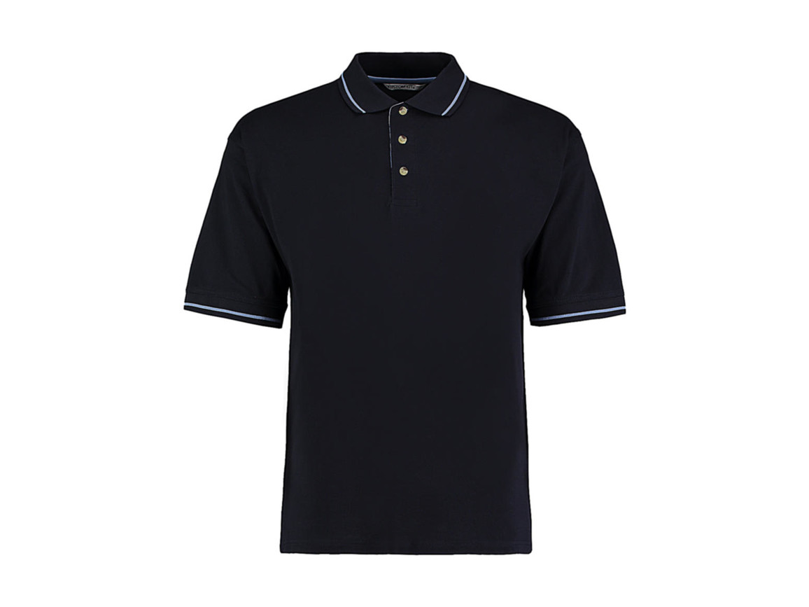 Kustom Kit Men`s Classic Fit St. Mellion Polo, Navy/Light Blue, 2XL bedrucken, Art.-Nr. 504112417