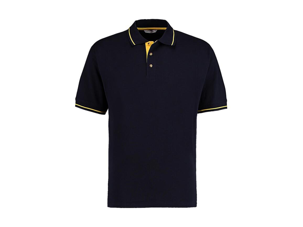 Kustom Kit Men`s Classic Fit St. Mellion Polo, Navy/Sun Yellow, M bedrucken, Art.-Nr. 504112464