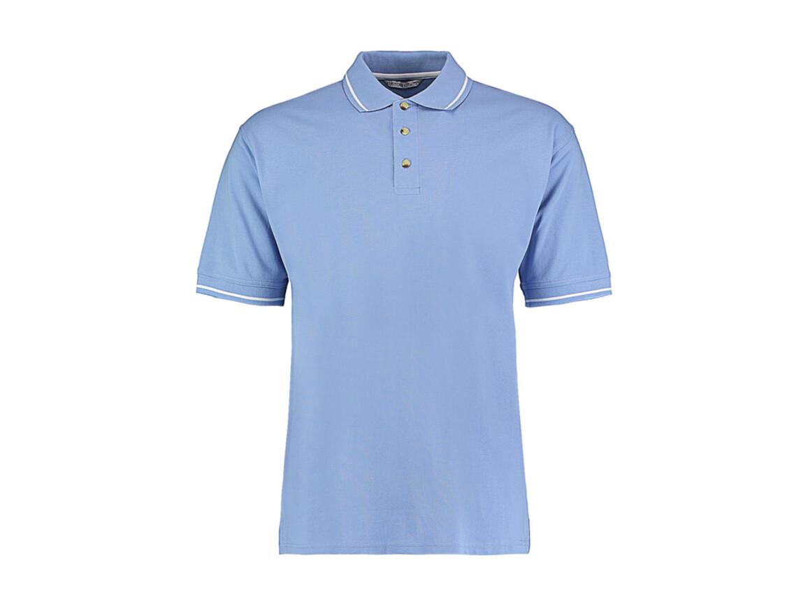 Kustom Kit Men`s Classic Fit St. Mellion Polo, Light Blue/White, L bedrucken, Art.-Nr. 504113595