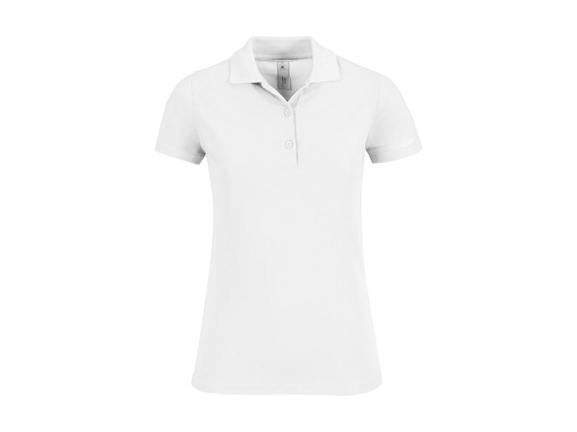 B & C Safran Timeless/women Polo, White, S bedrucken, Art.-Nr. 508420003