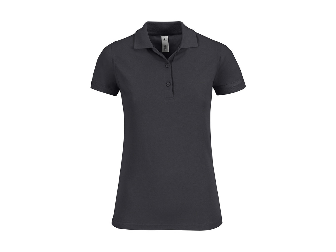 B & C Safran Timeless/women Polo, Dark Grey, S bedrucken, Art.-Nr. 508421283