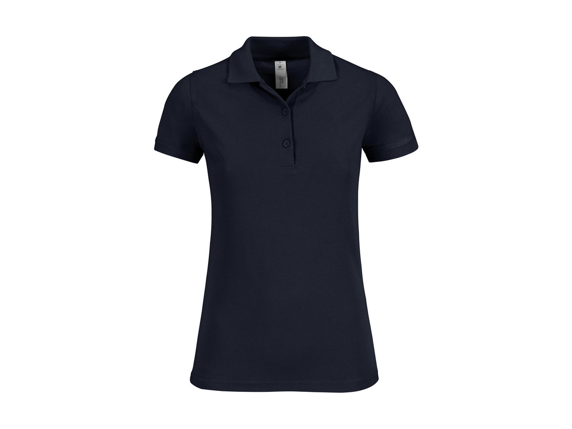 B & C Safran Timeless/women Polo, Navy, S bedrucken, Art.-Nr. 508422003