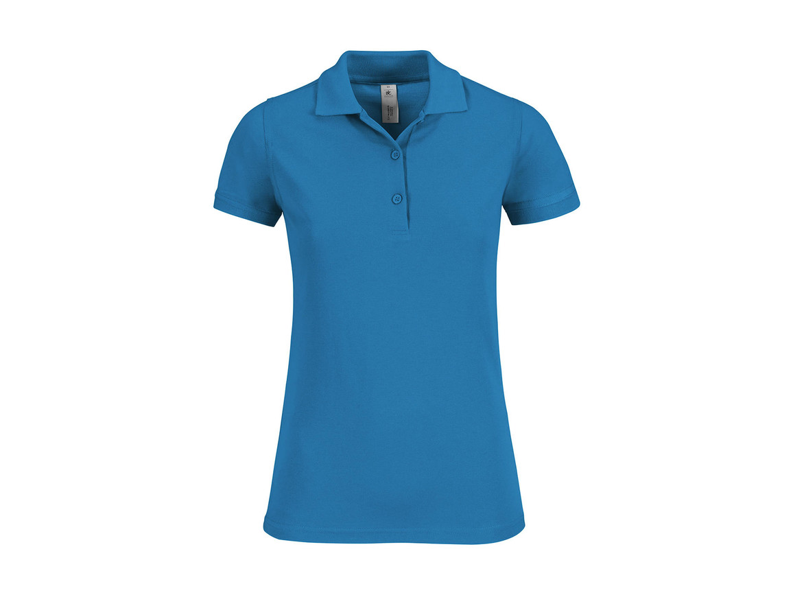 B & C Safran Timeless/women Polo, Atoll, S bedrucken, Art.-Nr. 508423143