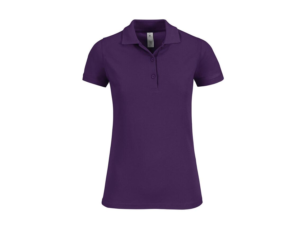 B & C Safran Timeless/women Polo, Purple, M bedrucken, Art.-Nr. 508423494