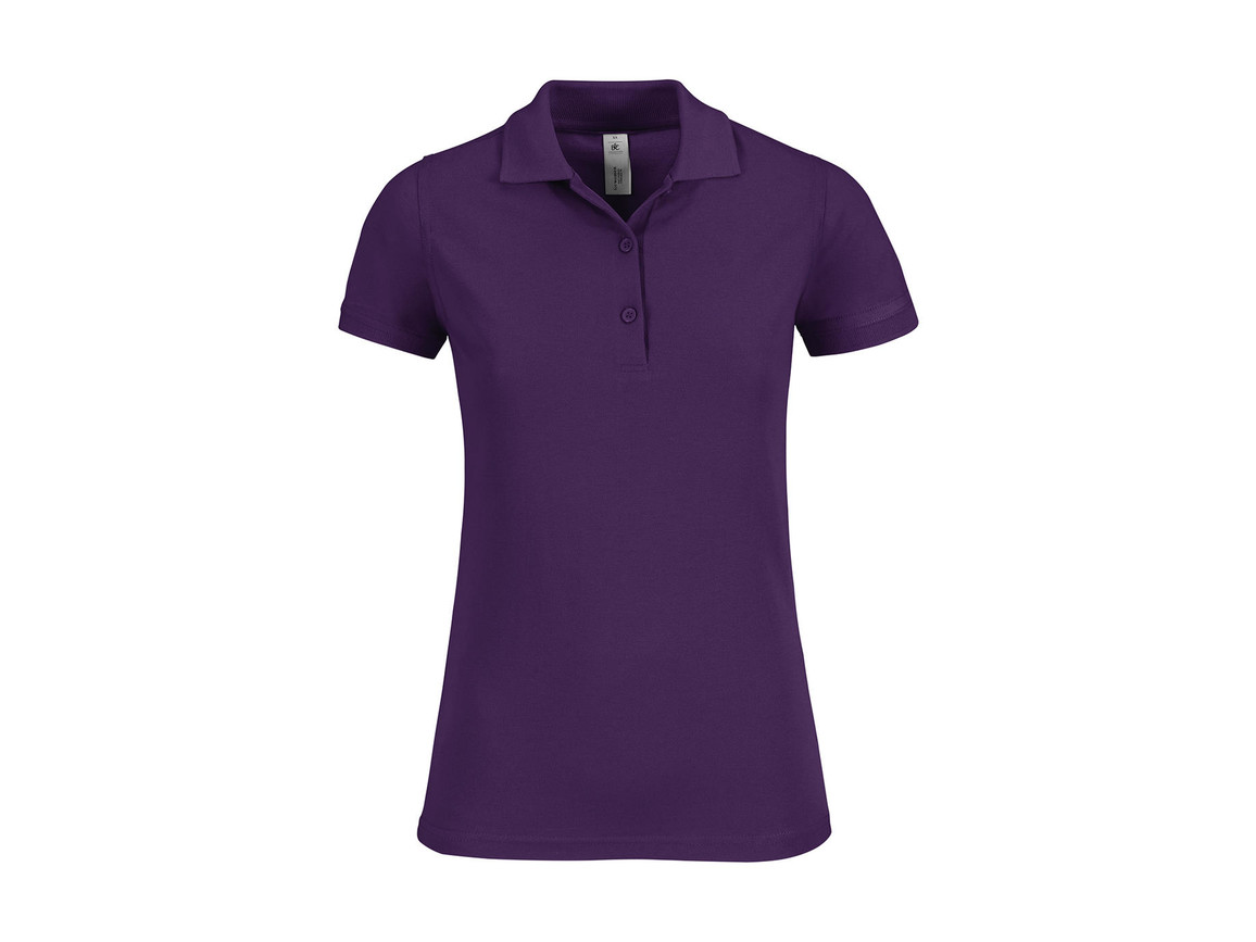 B & C Safran Timeless/women Polo, Purple, S bedrucken, Art.-Nr. 508423493