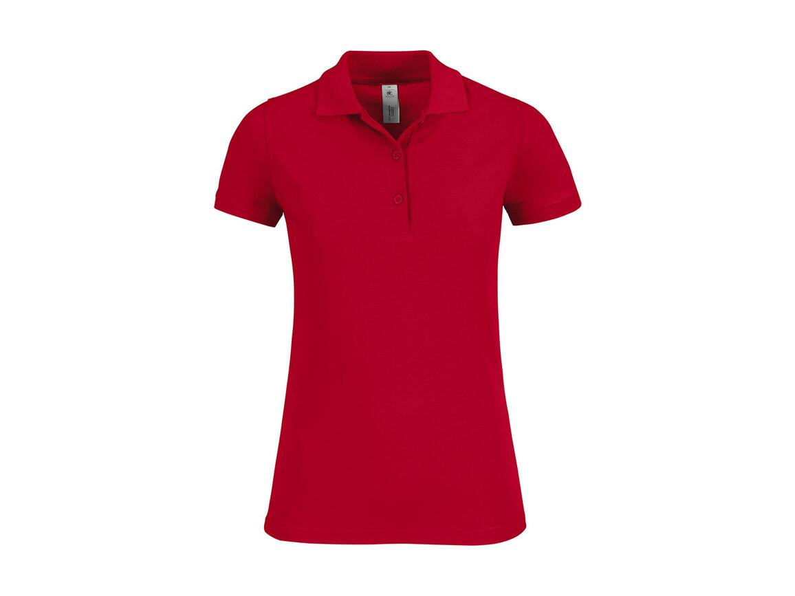 B & C Safran Timeless/women Polo, Red, XL bedrucken, Art.-Nr. 508424006