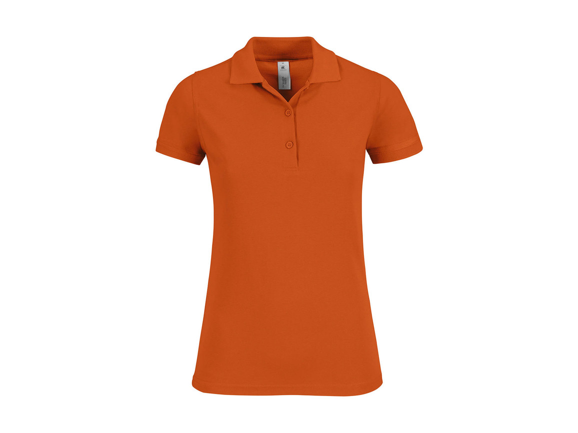 B & C Safran Timeless/women Polo, Pumpkin Orange, XS bedrucken, Art.-Nr. 508424122