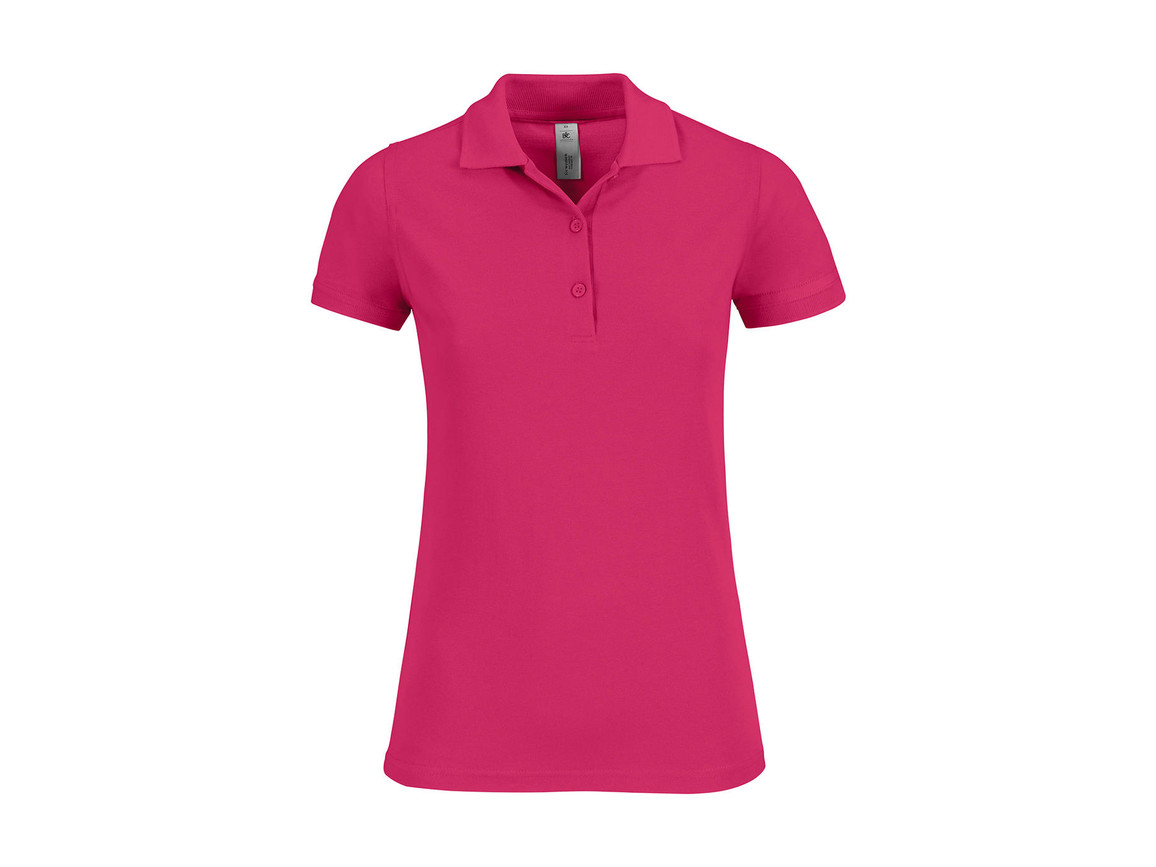 B & C Safran Timeless/women Polo, Fuchsia, XS bedrucken, Art.-Nr. 508424182