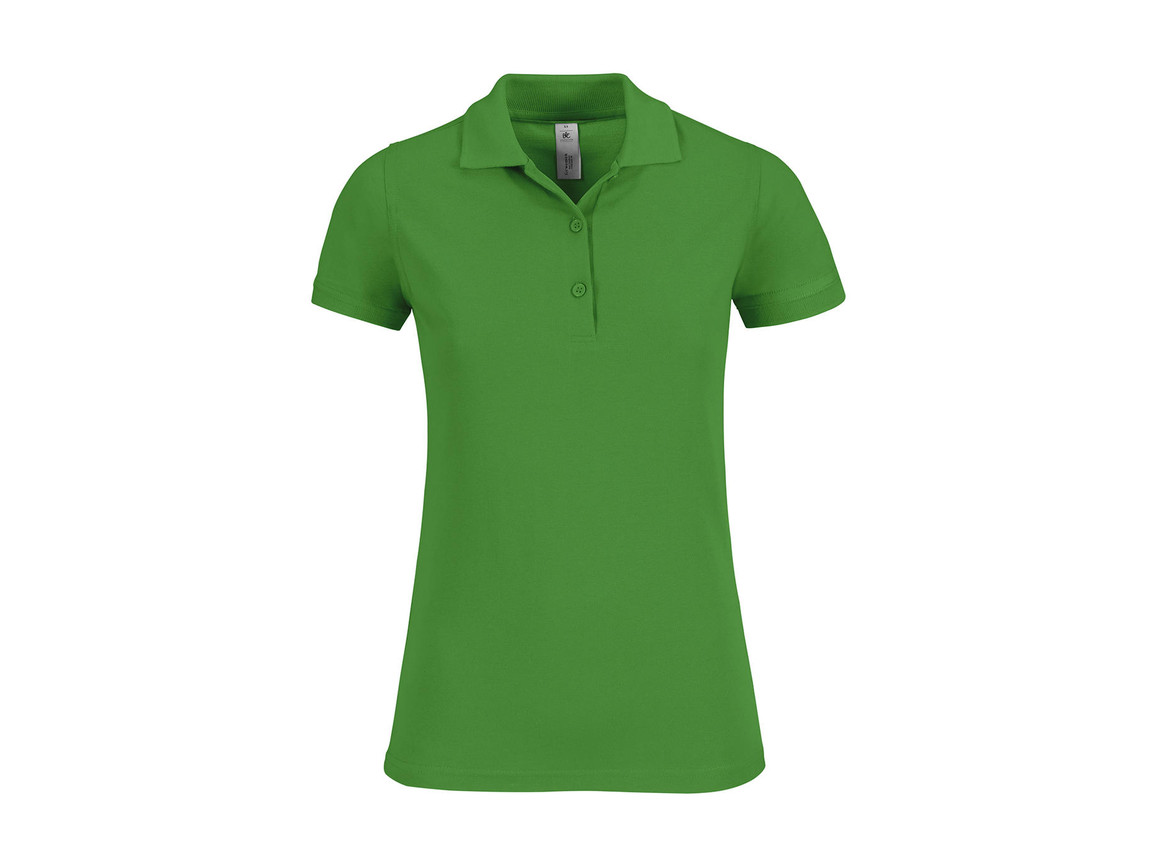 B & C Safran Timeless/women Polo, Real Green, L bedrucken, Art.-Nr. 508425035
