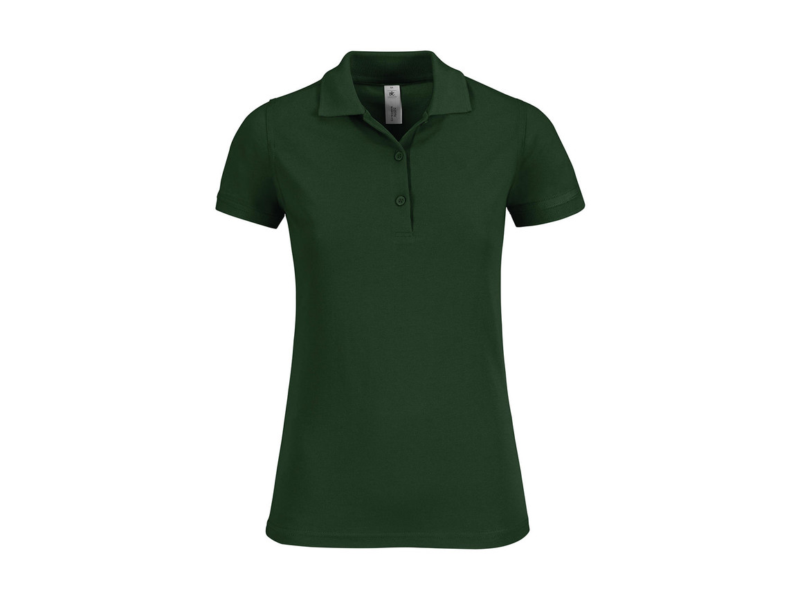 B & C Safran Timeless/women Polo, Bottle Green, L bedrucken, Art.-Nr. 508425405
