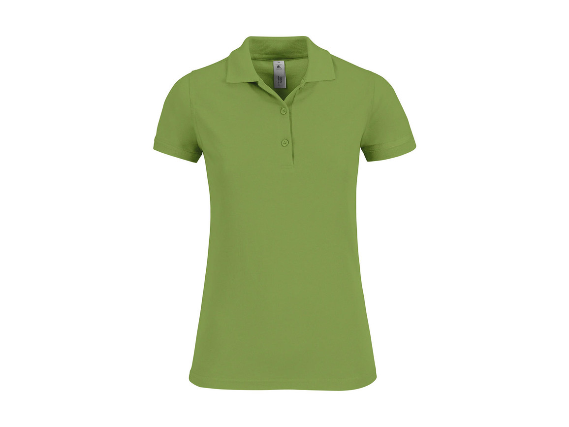 B & C Safran Timeless/women Polo, Pistachio, S bedrucken, Art.-Nr. 508425503