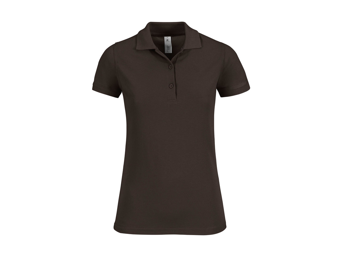 B & C Safran Timeless/women Polo, Brown, M bedrucken, Art.-Nr. 508427004