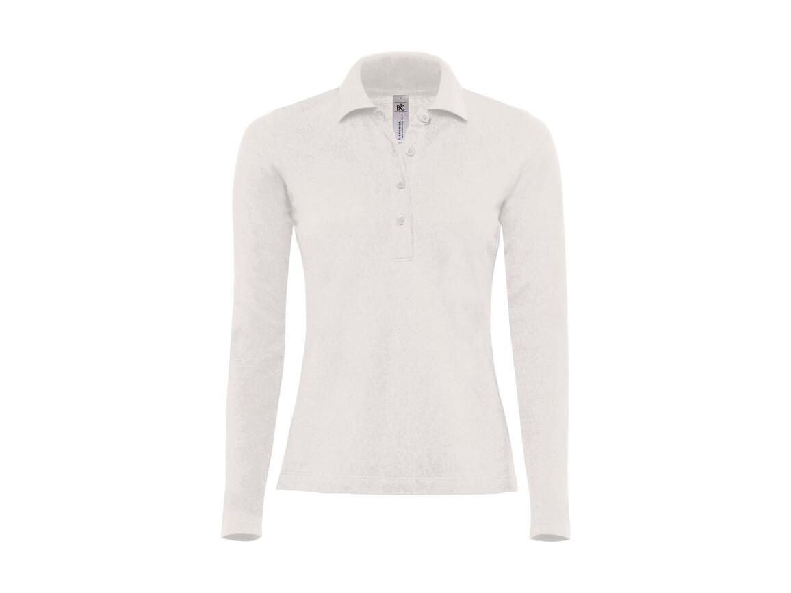 B & C Safran Pure LSL/women Polo, White, XS bedrucken, Art.-Nr. 520420002