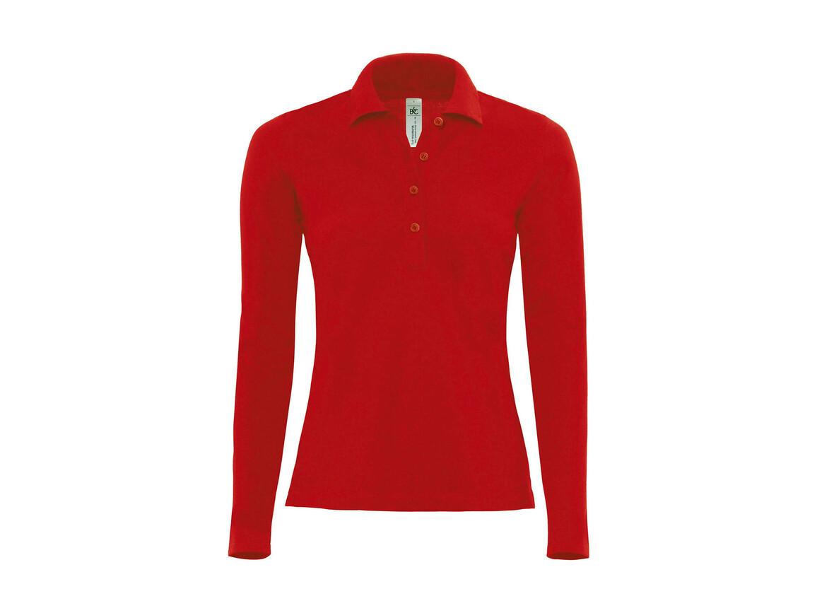 B & C Safran Pure LSL/women Polo, Red, L bedrucken, Art.-Nr. 520424005