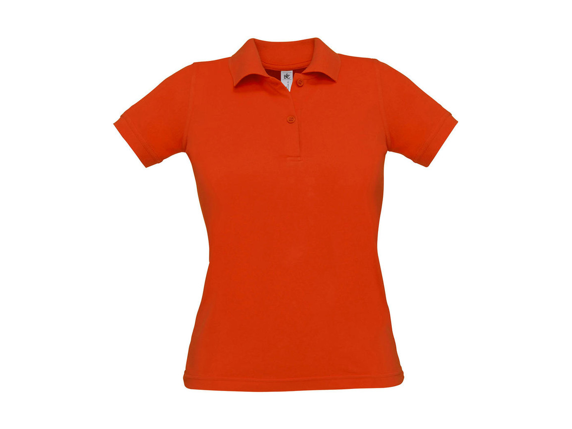 B & C Safran Pure/women Polo, Pumpkin Orange, M bedrucken, Art.-Nr. 526424124