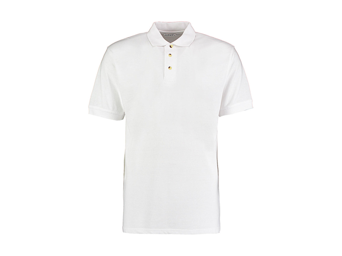 Kustom Kit Classic Fit Workwear Polo Superwash® 60º, White, 4XL bedrucken, Art.-Nr. 539110009