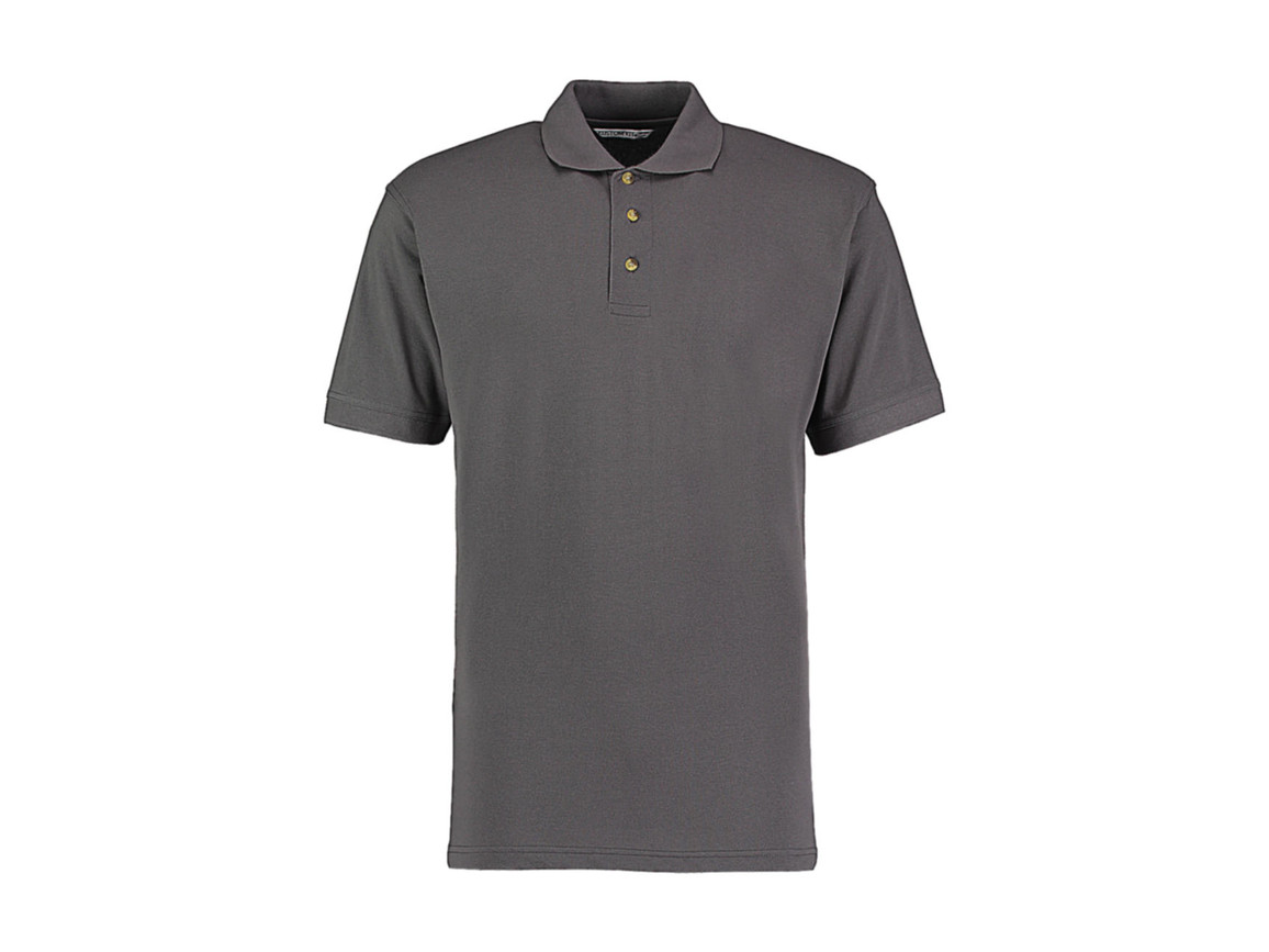 Kustom Kit Classic Fit Workwear Polo Superwash® 60º, Charcoal, M bedrucken, Art.-Nr. 539111304