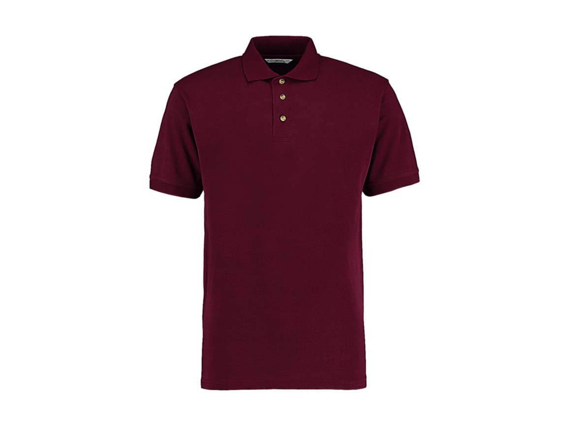Kustom Kit Classic Fit Workwear Polo Superwash® 60º, Burgundy, L bedrucken, Art.-Nr. 539114485
