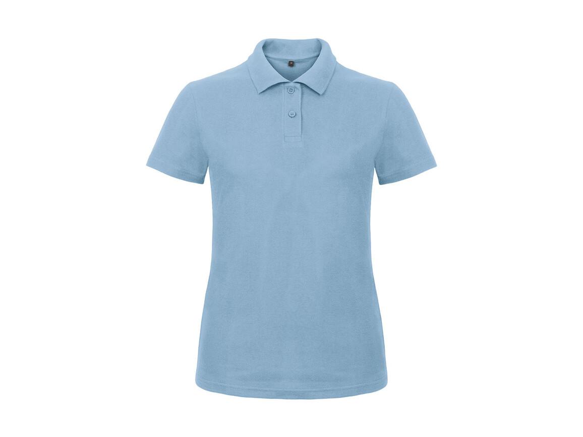 B & C ID.001/women Piqué Polo Shirt, Light Blue, XL bedrucken, Art.-Nr. 547423226