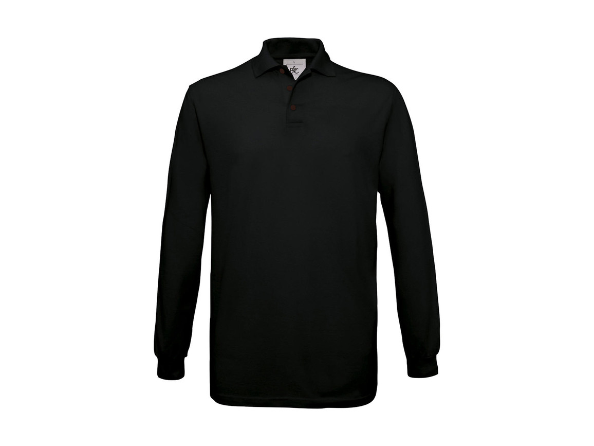B & C Safran LSL Polo, Black, XL bedrucken, Art.-Nr. 554421016