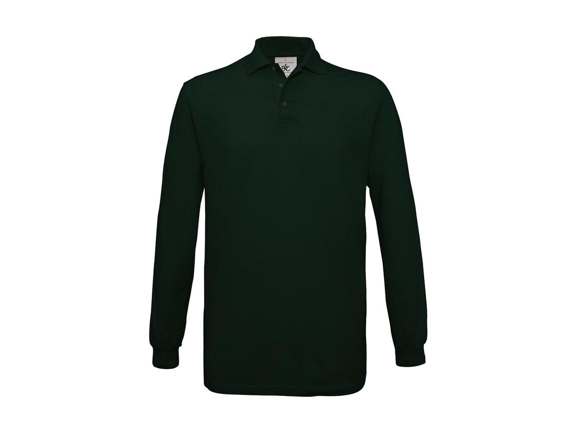 B & C Safran LSL Polo, Bottle Green, L bedrucken, Art.-Nr. 554425405