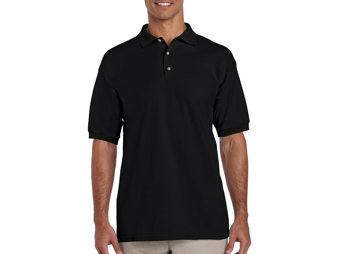 Gildan Ultra Cotton Adult Piqué Polo, Black, M bedrucken, Art.-Nr. 563091014