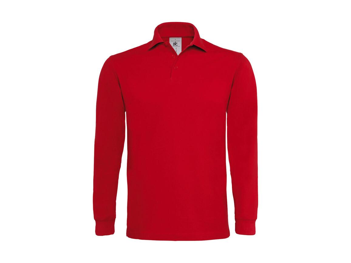 B & C Heavymill LSL Polo, Red, S bedrucken, Art.-Nr. 565424003