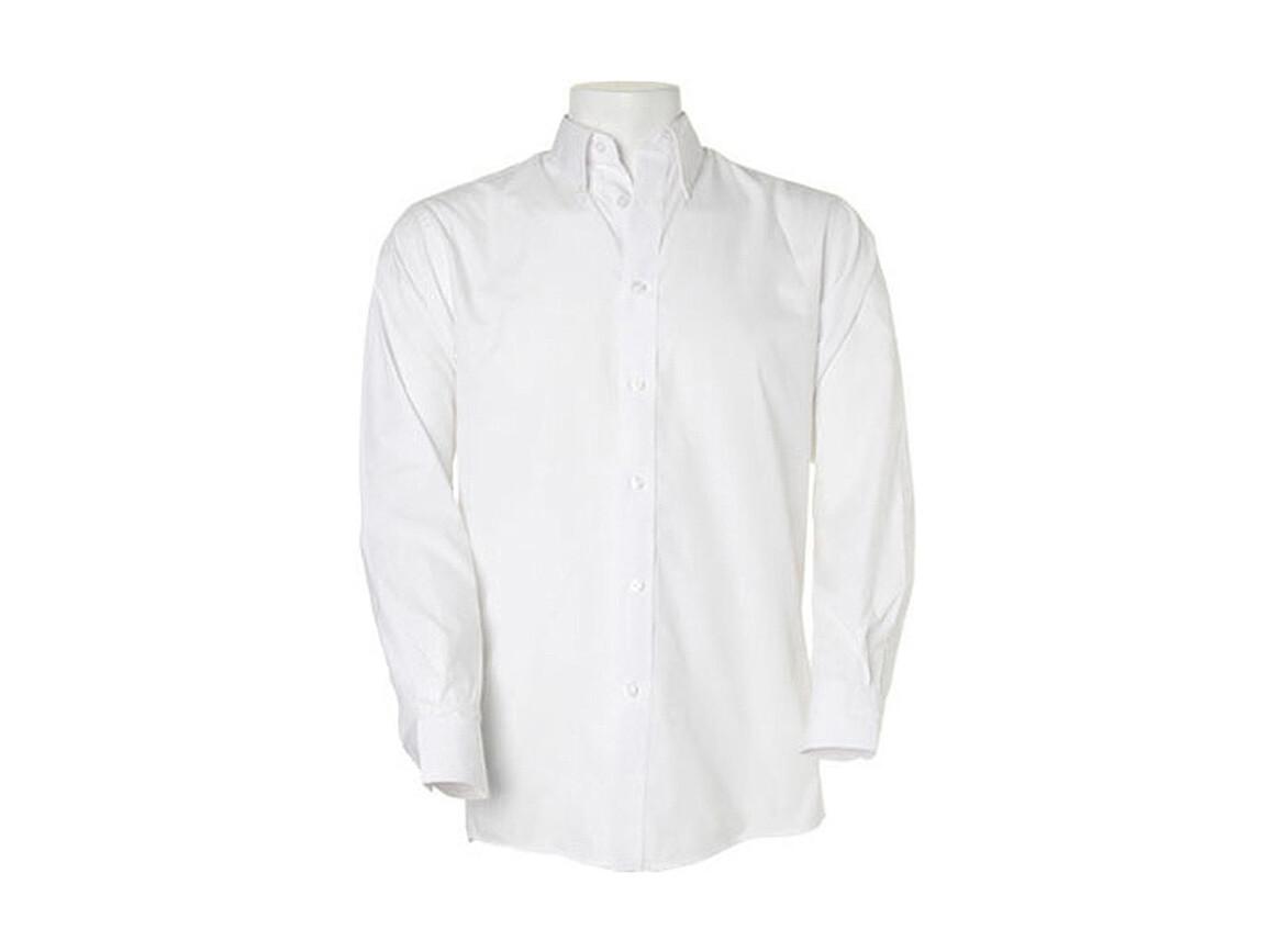 Kustom Kit Classic Fit Workforce Shirt, White, M (39/40cm) bedrucken, Art.-Nr. 703110004