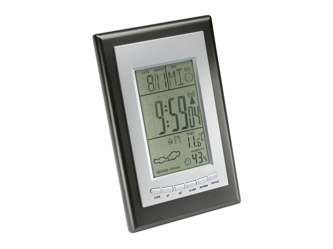 Wetterstation mit Funkuhr REFLECTS-SAURIMO bedrucken, Art.-Nr. 50904