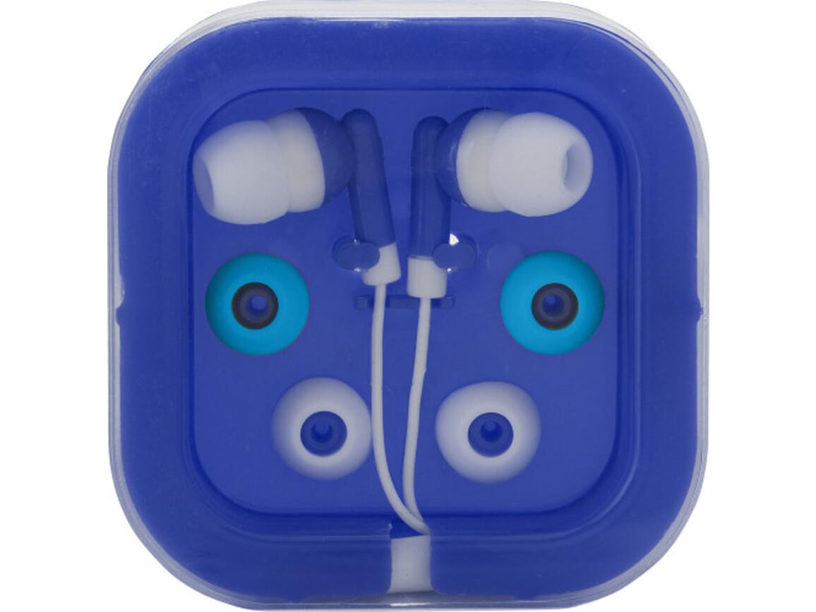 Kopfhörer 'Universal' aus Kunststoff/Metall – Blau bedrucken, Art.-Nr. 005999999_2289