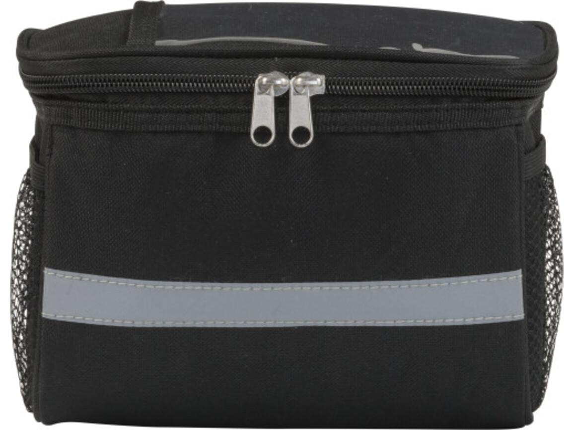 Fahrradlenker-Kühltasche 'Outdoor' aus Polyester – Schwarz bedrucken, Art.-Nr. 001999999_0929