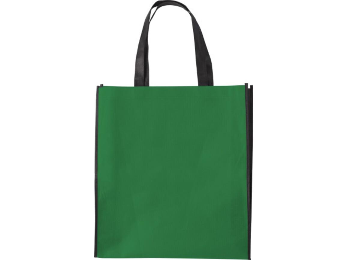 Einkaufstasche 'Zürich' aus Non-Woven – Grün bedrucken, Art.-Nr. 004999999_0972