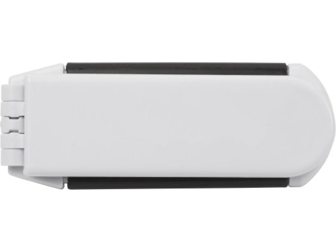 Haarbürste 'Pisa' aus Kunststoff – Weiß bedrucken, Art.-Nr. 002999999_1503